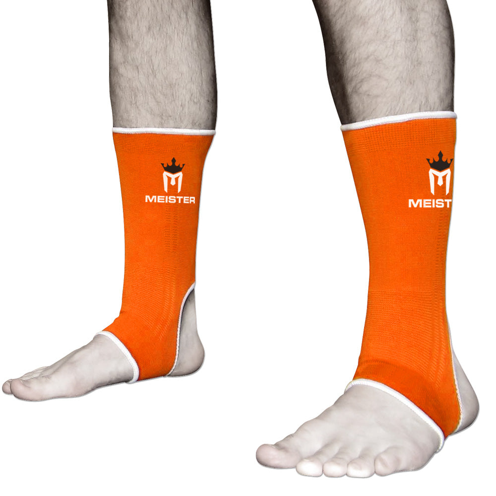 Muay Thai MMA Ankle Support Wraps (Pair) - Adult Orange