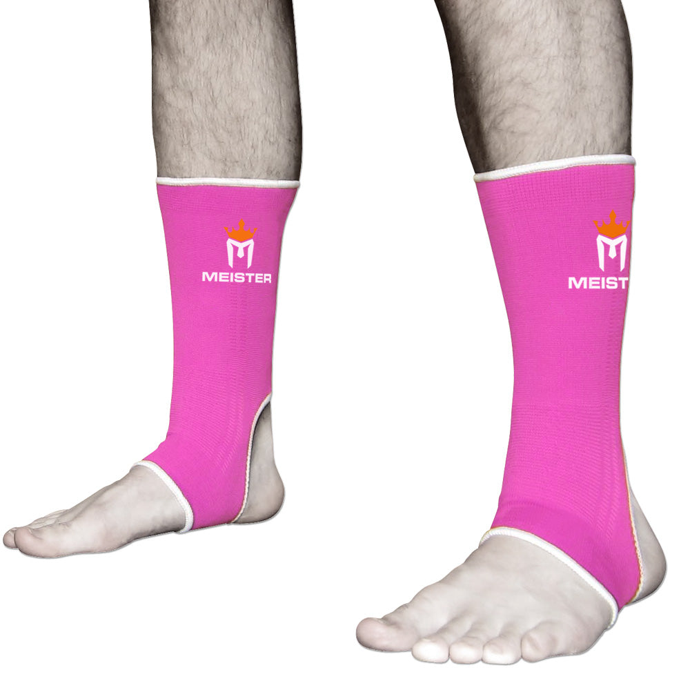 Muay Thai MMA Ankle Support Wraps (Pair) - Adult Pink