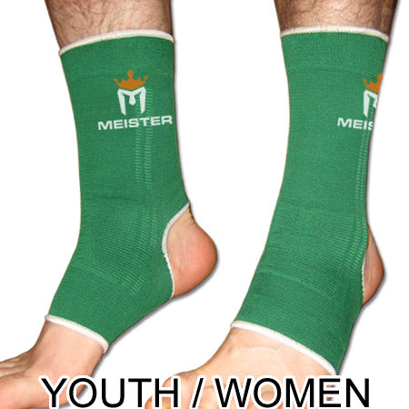 Muay Thai MMA Ankle Support Wraps (Pair) - YOUTH Green