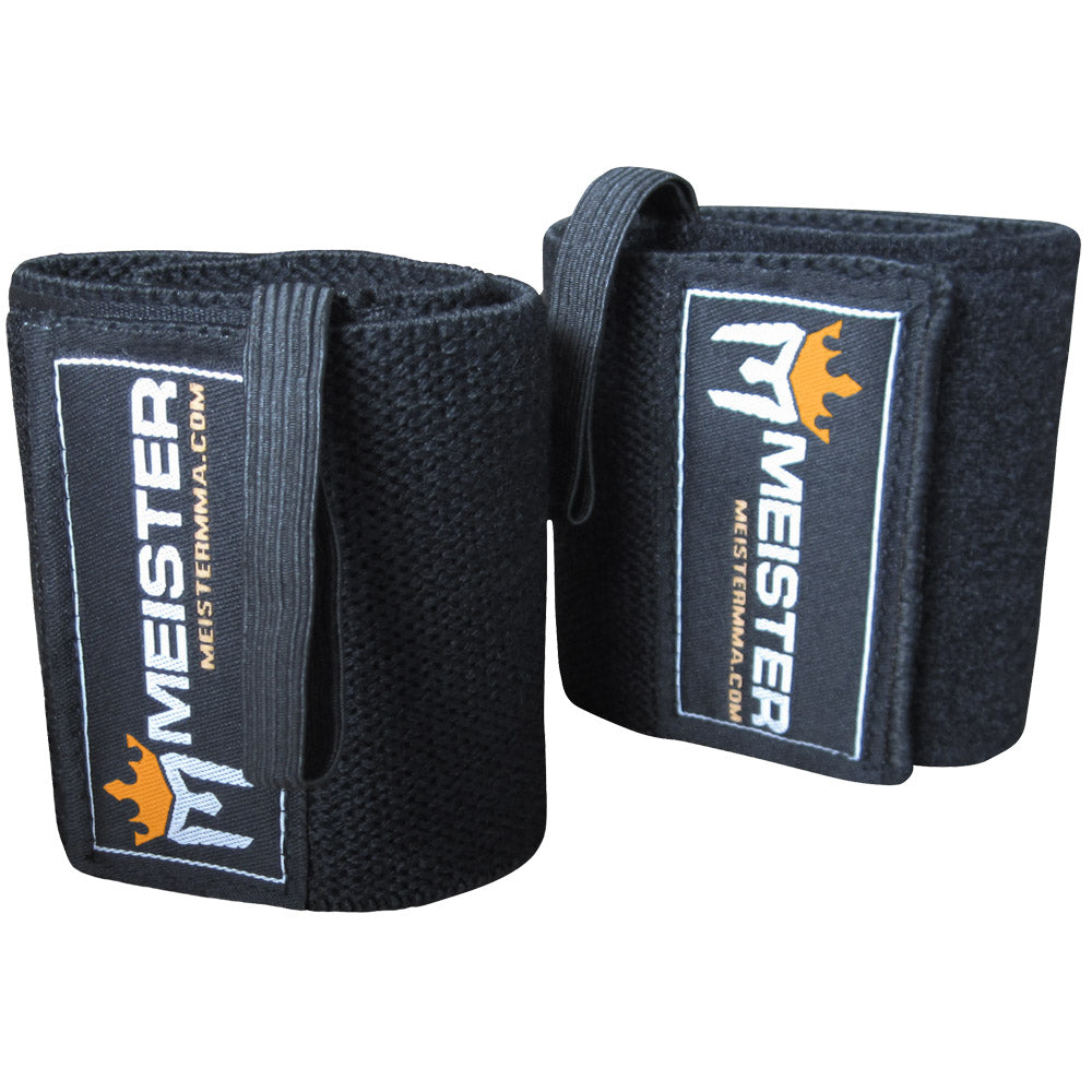 Elastic Support Wrist Wrap w/ Thumb Loop - Black