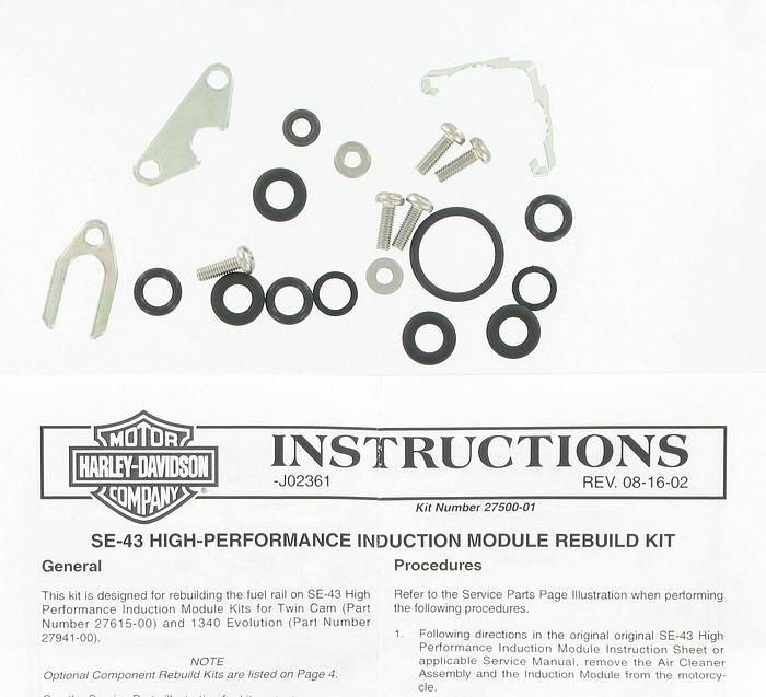Rebuild kit - performance induction module | Color:  | Order Number: 27500-01 | OEM Number: 27500-01