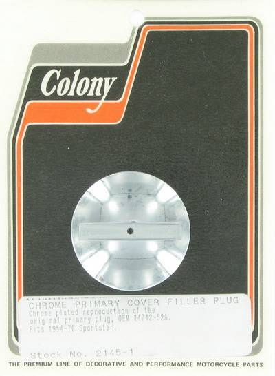 Filler plug for primary cover | Color: chrome | Order Number: C2145-1 | OEM Number: 34742-54A