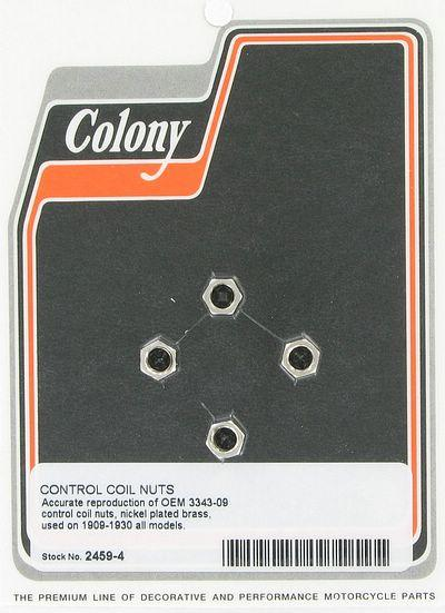 Control coil nuts | Color: Nickle | Order Number: C2459-4 | OEM Number:  3343-09
