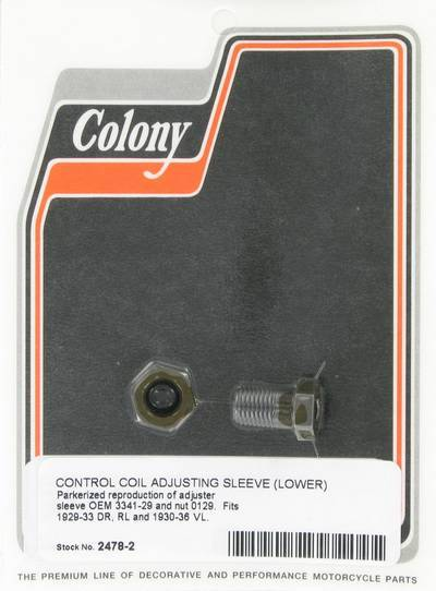 Control coil adjusting sleeve - lower | Color: park | Order Number: C2478-2 | OEM Number:  3341-29
