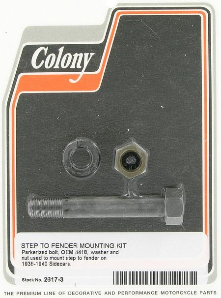 Sidecar step to fender mounting kit | Color: park | Order Number: C2617-3 | OEM Number: