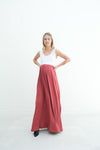 Annabelle | Maternity Maxi Tank Dress With Empire Waist In Terracota