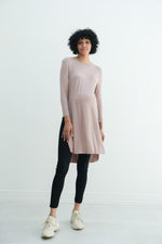 Camila | Maternity Long Sleeve Fitted Dress With Side Slit