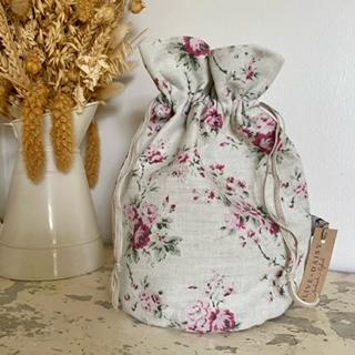 Drawstring wash bags by Olive & Daisy