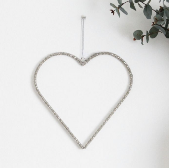 Hanging Beaded Hearts