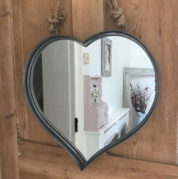 Knotted Rope Heart Mirror - Dales Country Interiors