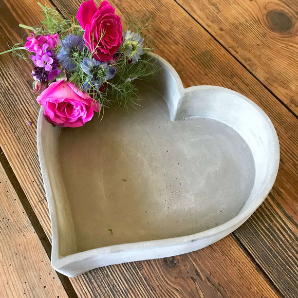 Concrete Heart Dishes