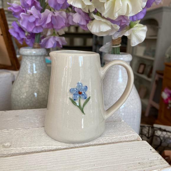 Embossed Forget-Me-Not Jug