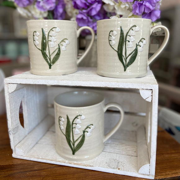 Embossed Lily of the Valley Large Mug