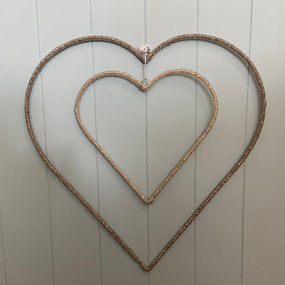 Beaded Glass Hearts
