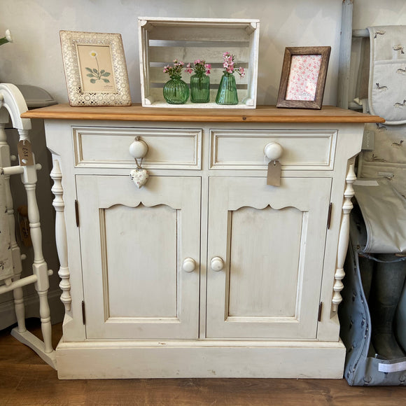 Neutral & Dark Wax Two Door Sideboard