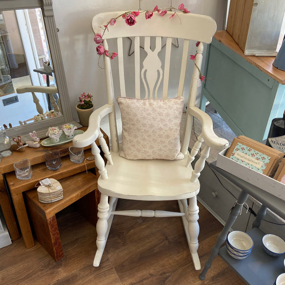 Corfu White Rocking Chair