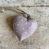 Chunky Spotty Hanging Hearts