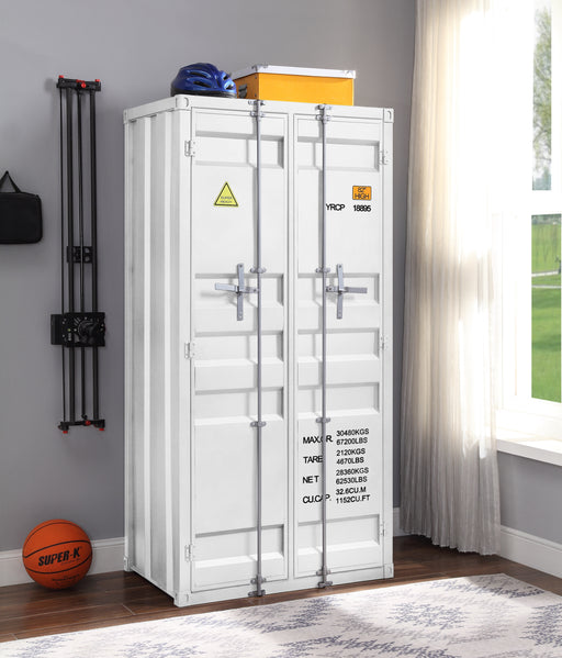 Cargo White Wardrobe (Double Door) image