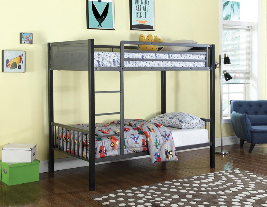 Meyers Traditional Grey Twin-over-Twin Bunk Bed image
