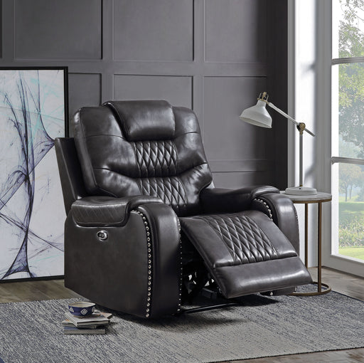 Braylon Magnetite PU Recliner (Power Motion) image