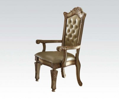 Acme Vendome Arm Chair (Set of 2) in Gold Patina 63004 image