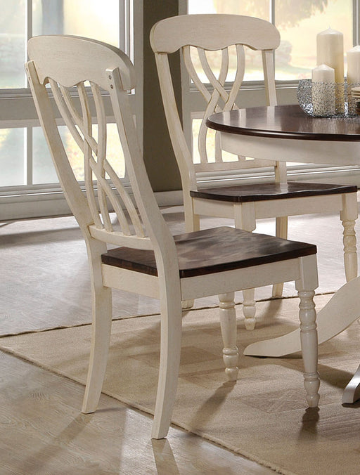 Acme Furniture Dylan Side Chair in Buttermilk and Oak (Set of 2) 70333 image