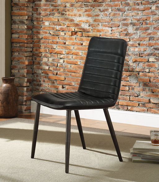 Hosmer Black Top Grain Leather & Antique Black Side Chair image