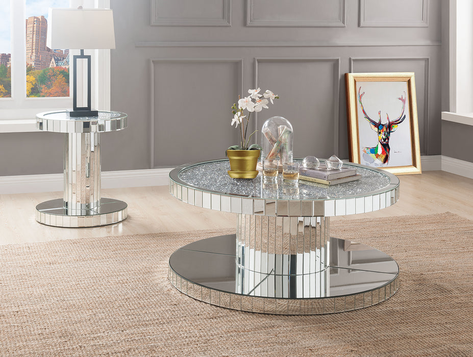 Ornat Mirrored & Faux Stones Coffee Table image