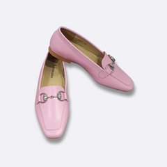 Le Cuore Womens Flats - Freya Loafers - Pink