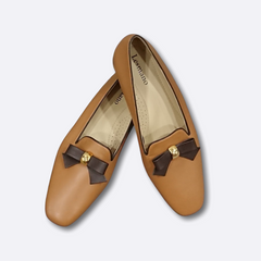 Le Cuore Womens Flats - Freya Loafers - Brown