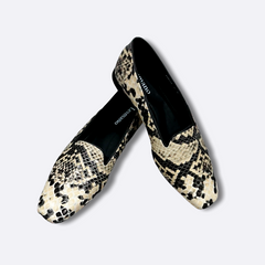 Le Cuore Womens Flats - Freya Loafers - Snake