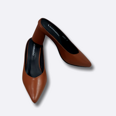 Le Cuore Women's Heels - Hailey Mules - Brown