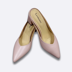 Le Cuore Women's Heels - Hailey Mules - Pink
