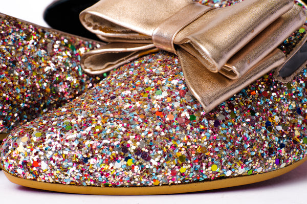 Le Cuore Custom Glitter Leather Loafers