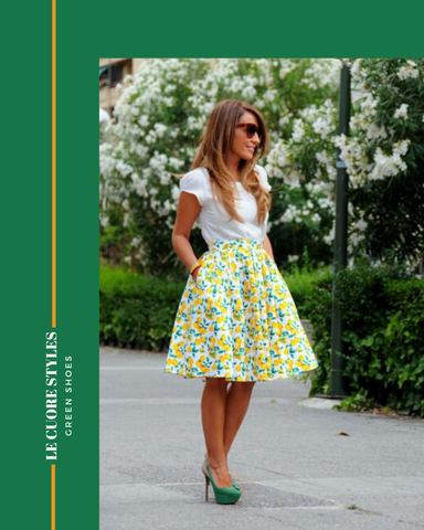 Le Cuore Styles Green Shoes