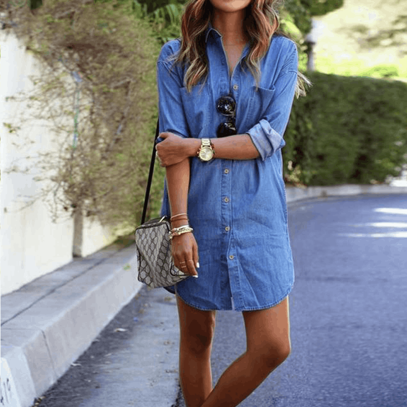 Alise - Denim Mini Dress