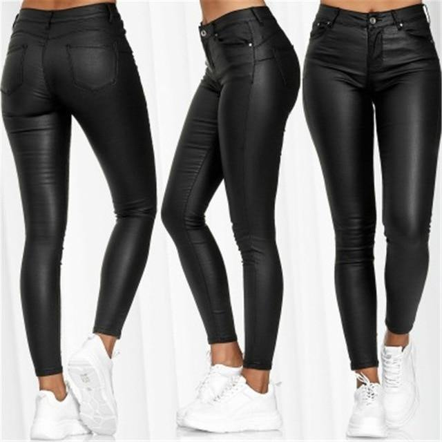Ensay - Casual Leather Pants