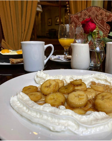 Banana's Foster Crepes from Hotel Colorado - Glenwood Springs