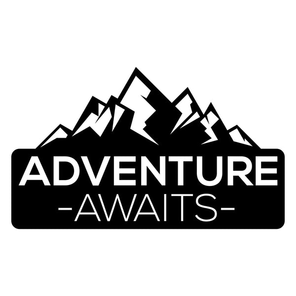 Adventure Awaits Mountain Car Sticker