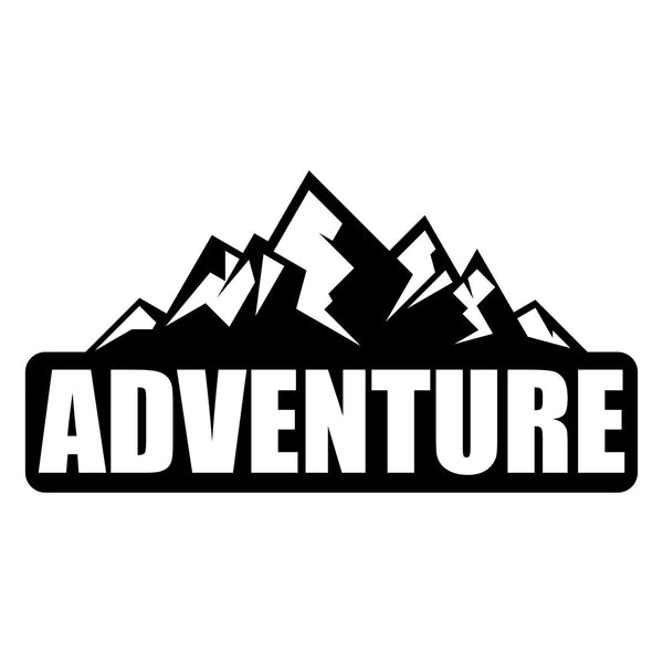 Adventure Mountain Car Sticker