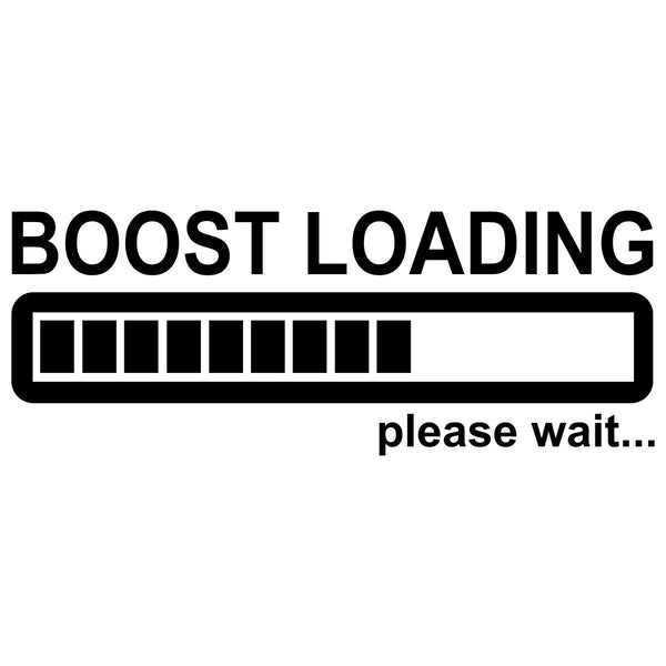 Boost Loading Car Sticker Decal