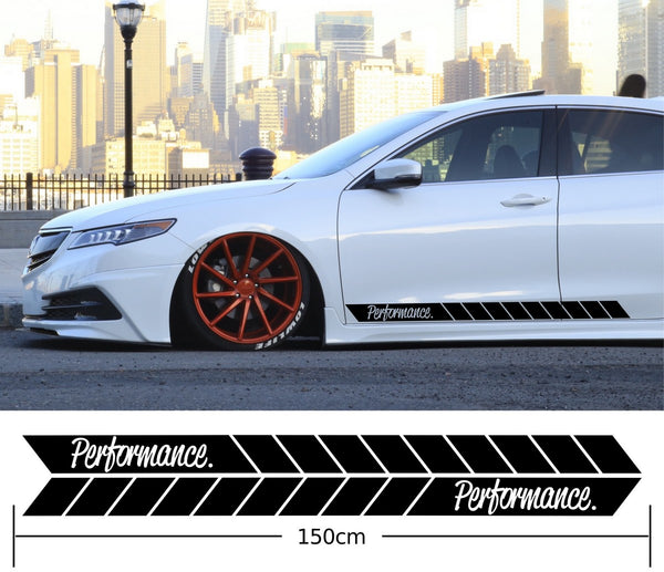 Performance Car Side Stripes Stickers Decals