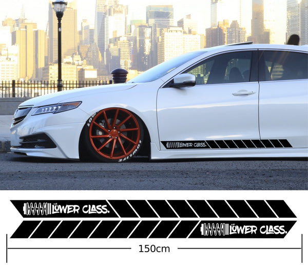 The Lower Class Coil Car Side Stripes Stickers Decals