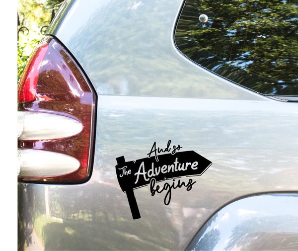 And so the adventure begins sticker