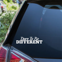 Dare To Be Different Car Sticker