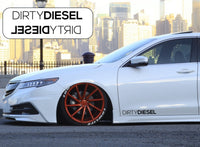 Dirty Diesel Side Skirt Car Stickers Decals