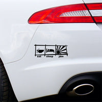 Eat Sleep JDM Car Sticker