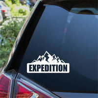 Expedition Mountain Car Sticker