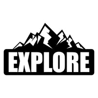 Explore Mountain Car Sticker