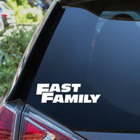 Fast Family Car Sticker